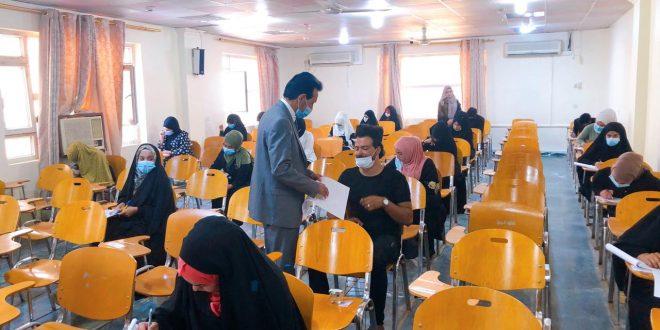 انطلاق الامتحانات النهائية الحضورية للفصل الدراسي الاول من العام الدراسي ٢٠٢٠-٢٠٢١